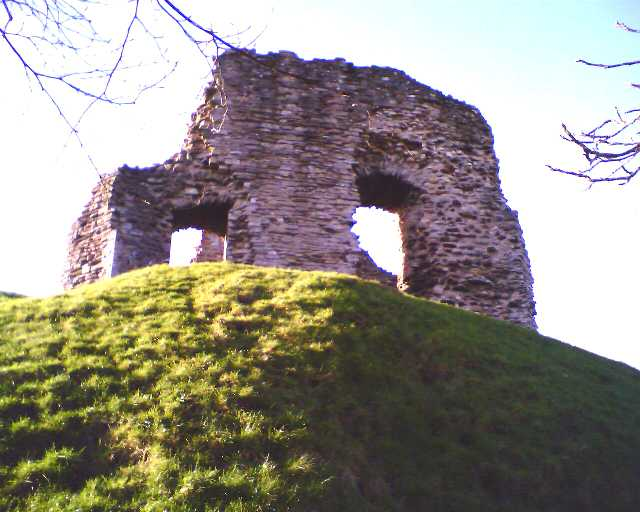 Christchurch castle on its Motte