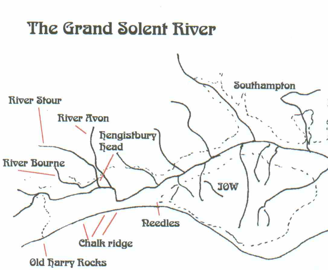 An imaginary view of what the Solent river may have looked like